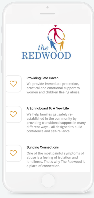 Mock up of the redwood in a phone
